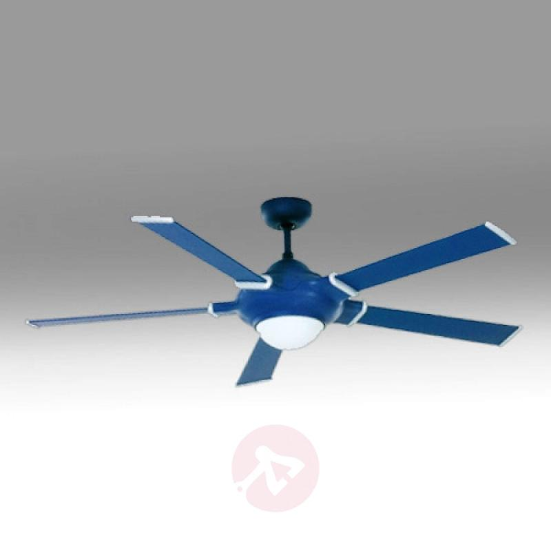 Blue-coloured Blue Star ceiling fan with light