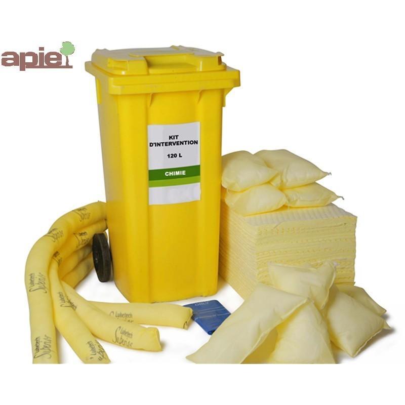 Kit absorbants120 L conteneur mobile anti-pollution - Référence : KIT.120L.TSLIQ/RL