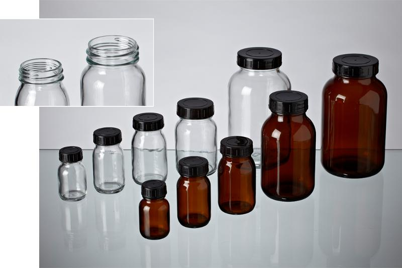 Wide mouth bottles - Glass bottles