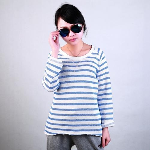 fashion custom womens yarn dyed crewneck sweatshirt