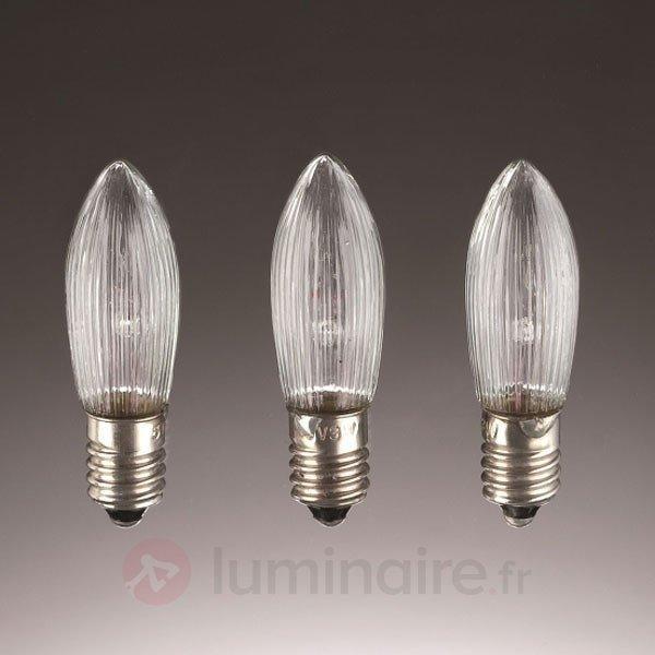 3 Bougies de rechange E10 3W 48V - Ampoules à l'unité