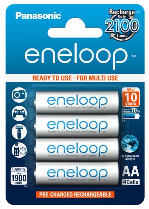 Batterie stilo ricaricabili Eneloop 4 pz