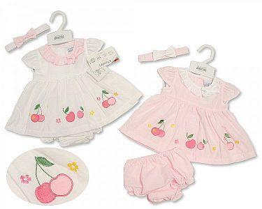 Baby Dress - Cherry  -