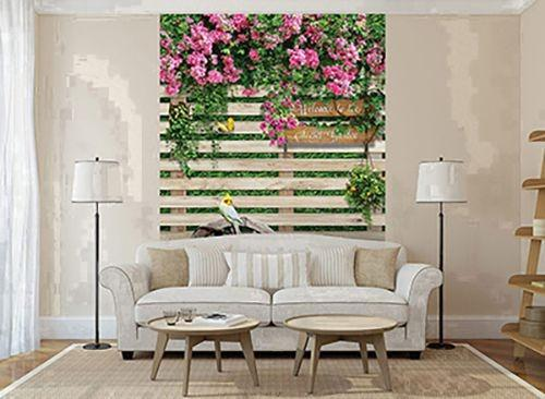 Photo wallpaper  - Non-woven photo wallpaper Mysterious Garden 2x2,7cm (art. u-22112975)