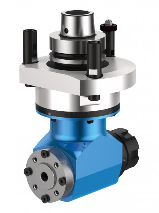 Double sided angle head DUO - CNC unit / angle head with 2 output spindles for machining of wood