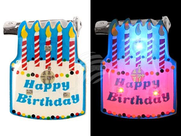 "Blinki Blinker multicolor Motiv: Torte ""Happy birthday"" - null"