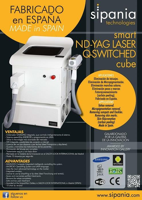 smart ND-YAG LASER Q-SWITCHED cube - La más potente tecnología. Galardonado por la galeria de la innovación.  Fabrica