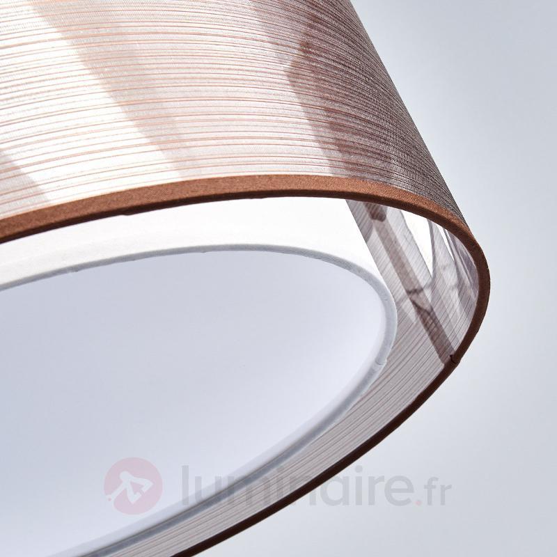Suspension textile Nica en brun - Suspensions en tissu