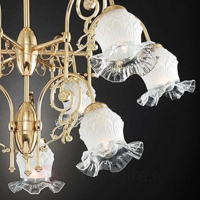 Lustre Ringstrasse à 9 lampes, en laiton - Lustres classiques,antiques