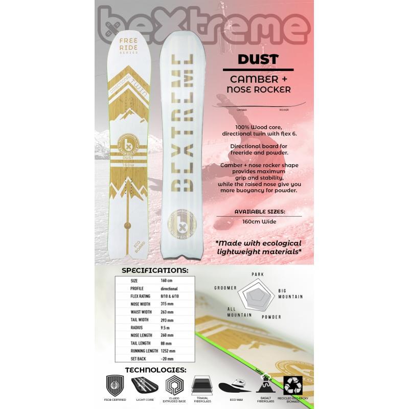 Snowboard Dust Bextreme 2020 - Tablas Snowboard