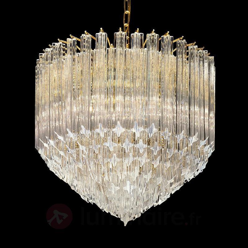 Luminaire en cristal Pigna à 24 carats d'or - Suspensions en cristal