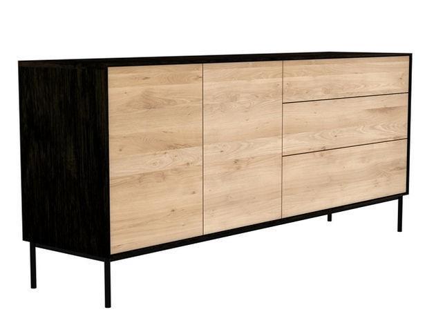 Ethnicraft - Buffet Blackbird 2 portes / 3 tiroirs - Meubles