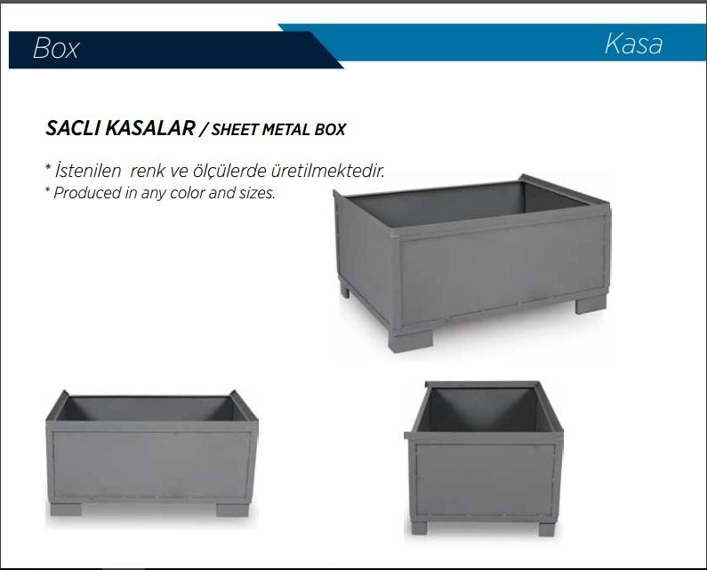 Metal Box - sheet , euro metal box