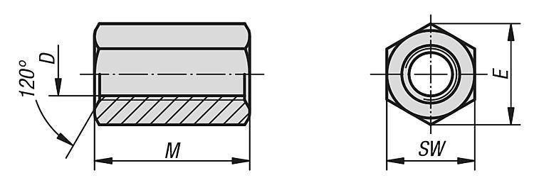 Rallonge six pans - Éléments de liaison