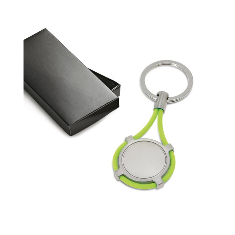 Porte-clés métal et silicone - Porte-clés métal
