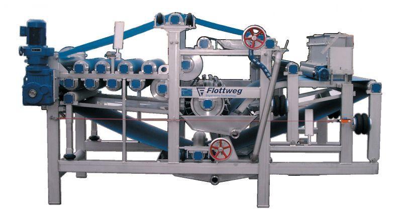 Prasa taśmowa firmy Flottweg - Prasa taśmowa do odwadniania i filtracji w produkcji soku oraz, etc.