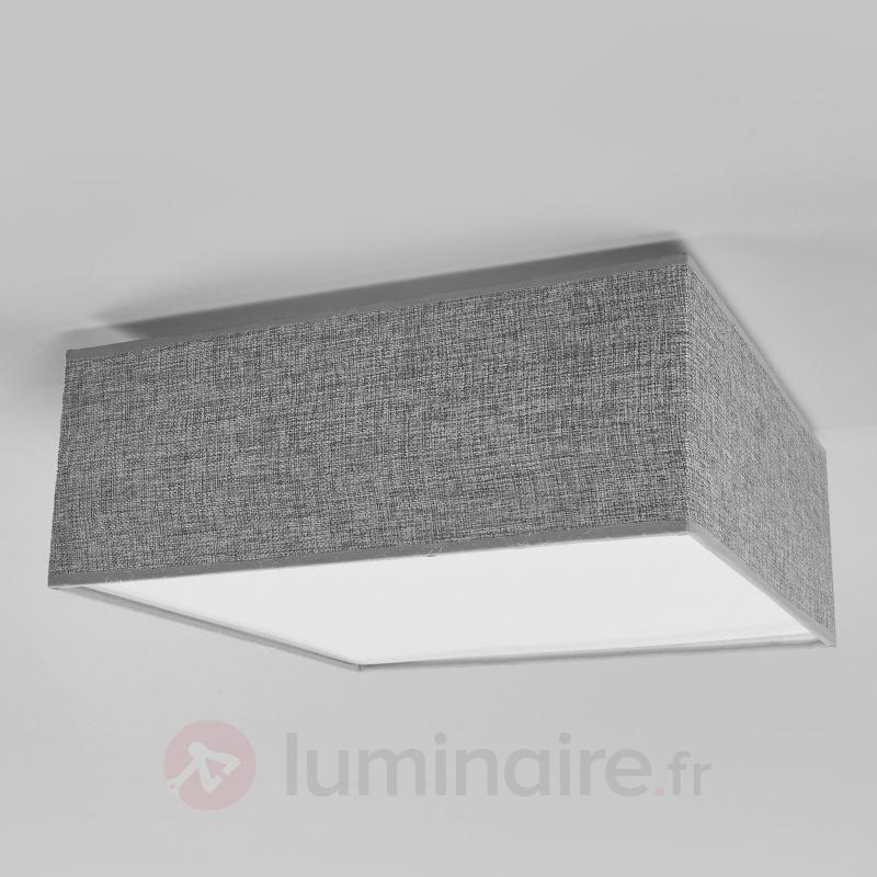 Meritt - plafonnier en textile gris - Plafonniers en tissu