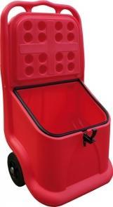 Bac À Sel Ou Sable Mobile Rouge 75 Litres - COFM75R-Coffre et bac à sel ou sable PEHD