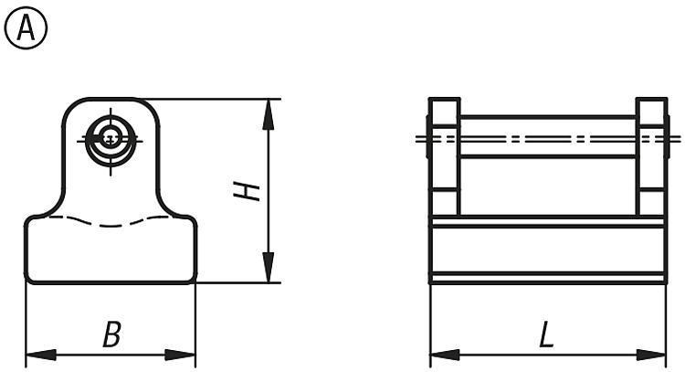 Patins pour bride de serrage - Éléments de bridage et d'ajustement