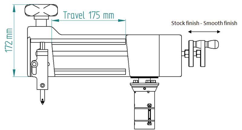 LMC Mini-Facer Evo - Manually operated flange facer