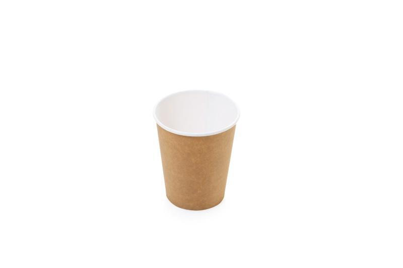 "One layer "" Kraft"" cups for hot beverages - Kraft cups for coffee, tea and hot chocolate"