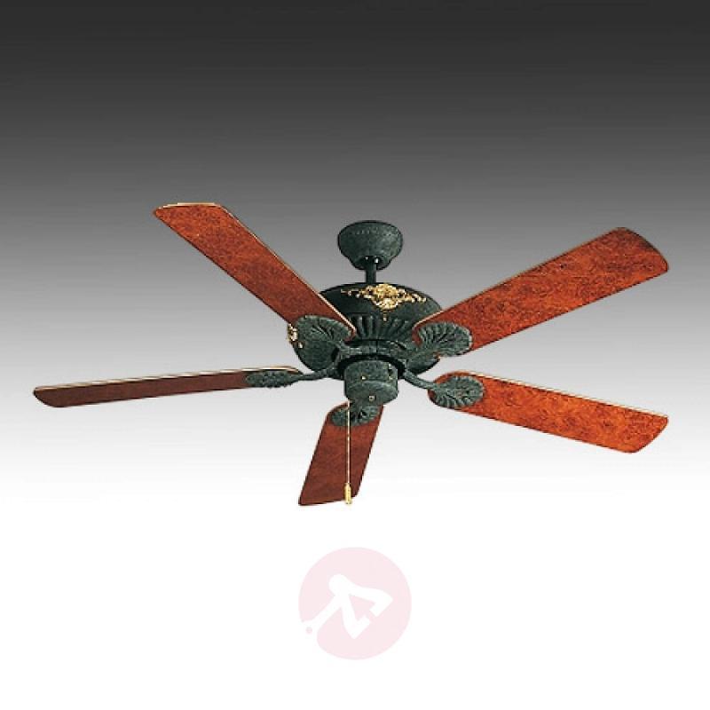 Amadeo II ceiling fan, walnut-burl wood - fans