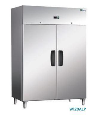 Armoires réfrigérées portes pleines - EXTÉRIEUR INOX ET INTÉRIEUR ALU - ARMOIRE POSITIVE - 2 PORTES W120ALP