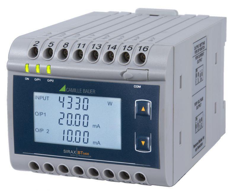 SIRAX BT5400 - Messumformer für Wirk-/Schein-/Blindleistung, Phasenwinkel und Leistungsfaktor