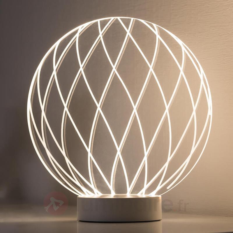 Lampe à poser Mesh avec effet de lumière 3D - Lampes à poser LED