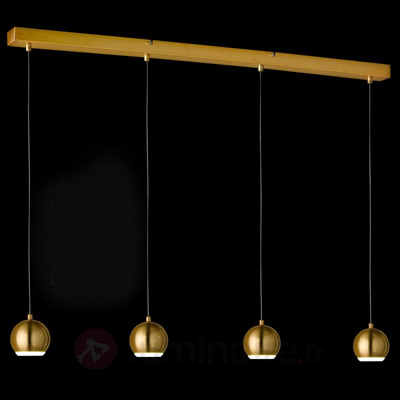 Suspension LED Pino à quatre lampes - bronze - Suspensions LED