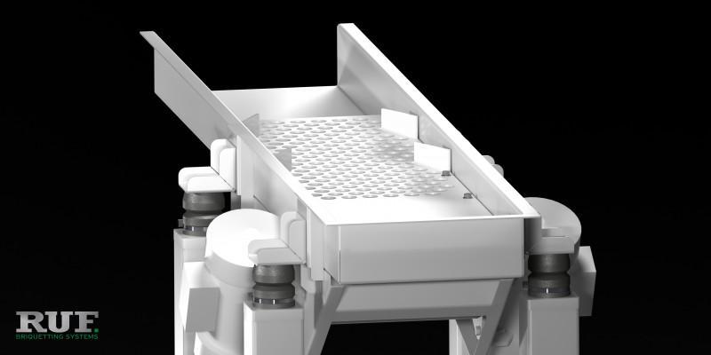 RUF Zubehör: Schwingförderrinne - Vibrationsförderer zum aussortieren von Teilen