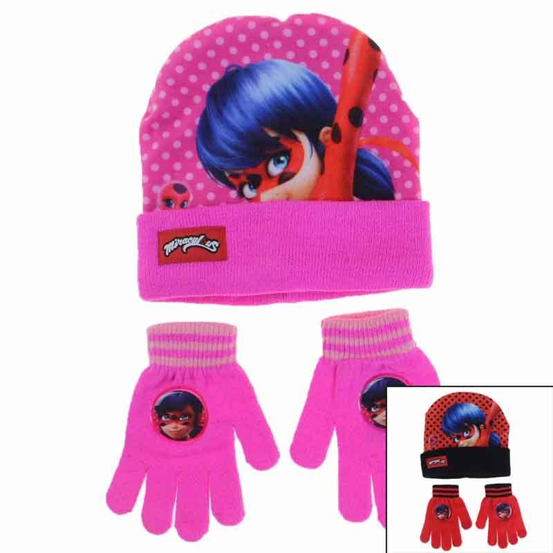 Manufacturer kids cap and gloves licenced Miraculous - Cap Gloves Scarf