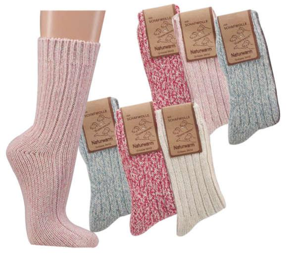 "2218 - Wool Socks ""Norway"" - Thick, soft and warming quality. Prewashed! No felting, no shrinking. 3-gage."