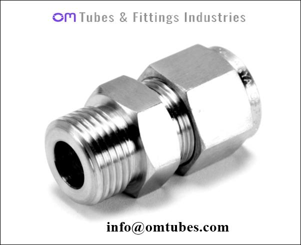 Male Connector - Tube Fitting Male Connector, Compression Male Connector
