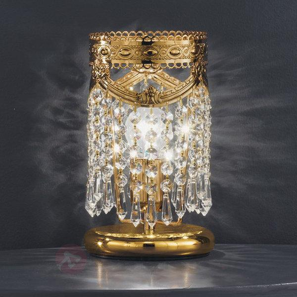 lampe à poser scintillant Pegaso 1 lampe or - Lampes à poser en cristal