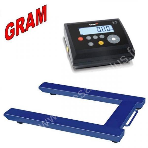 U de pesage Palettes 1500 et 3000Kgs - Transpalettes, barres peseuses