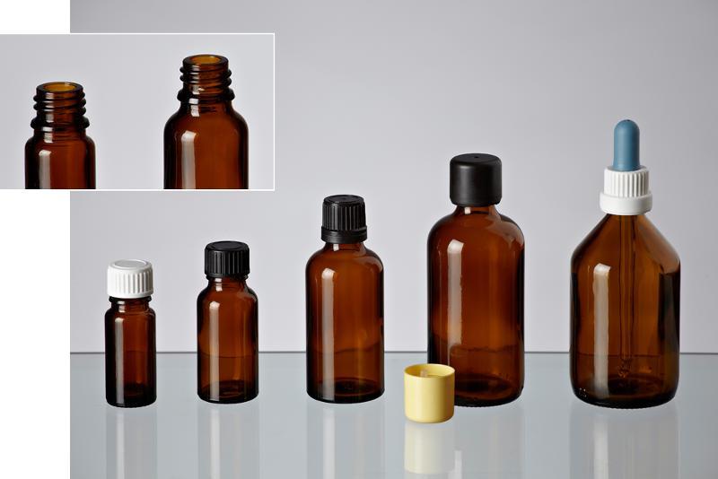 Allround bottles in amber glass - Glass bottles