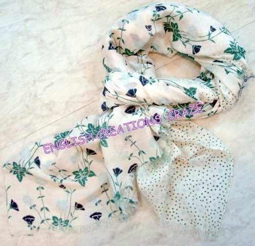 Cotton silk Stoles - Cotton silk Stoles