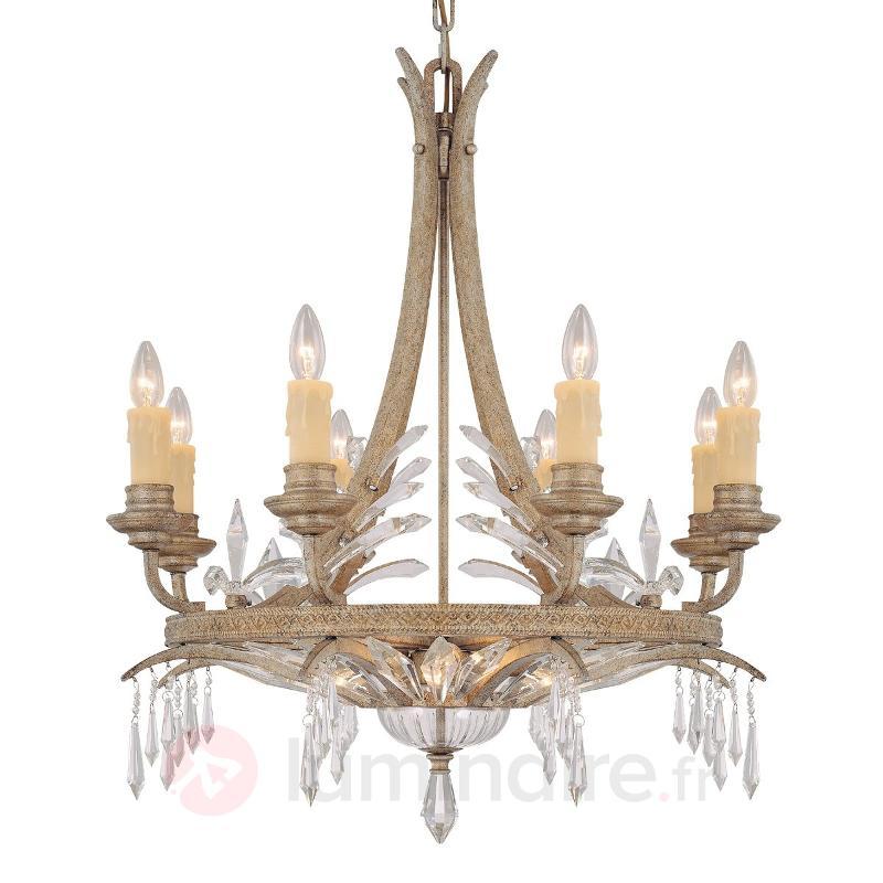 Lustre DIAVOLO avec fintions poussière d'or - Lustres en cristal