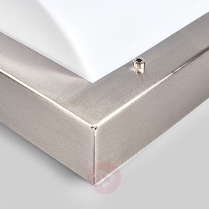 Stainless steel outdoor wall light Idris - stainless-steel-outdoor-wall-lights