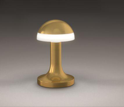 Art deco mushroom lamp