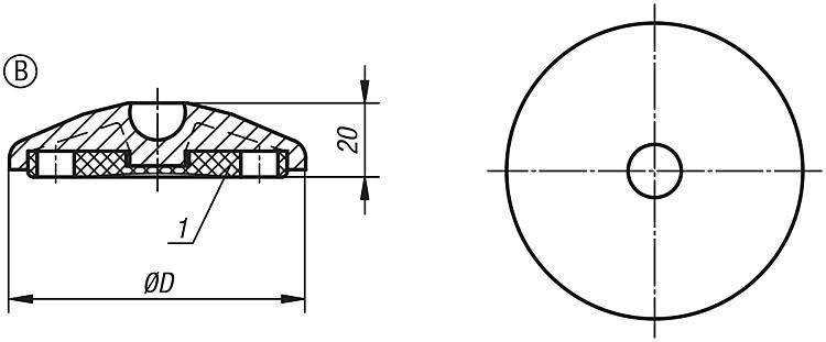 Talerzyki do stopek wahliwych tworzywo sztuczne - K0415