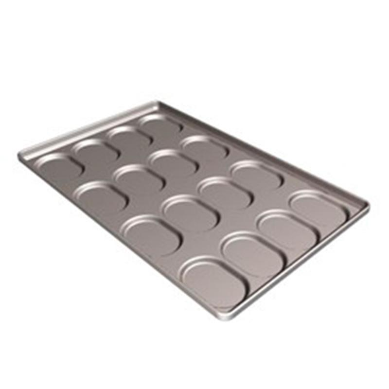 Oval indented baking trays
