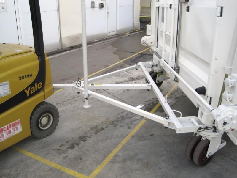 Jeu de roues pour conteneurs 4336 - 32 t - Rouleaux de conteneurs 4336- 32 t Conteneurs mobiles sur sol pavé