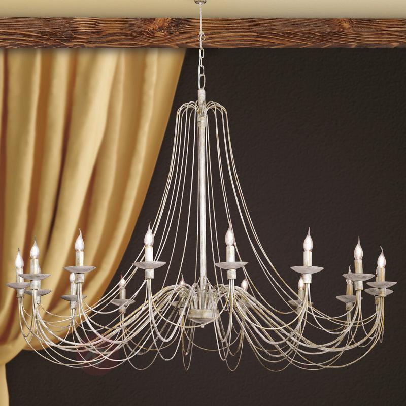 Magnifique lustre Antonina 16 lampes - Lustres rustiques