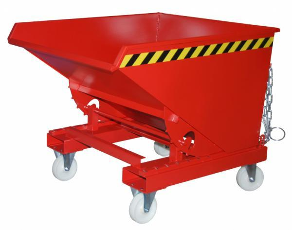 Tilting container type EXPO, suitable for forklift trucks - Container with fork sleeves and rolling mechanism for emptying