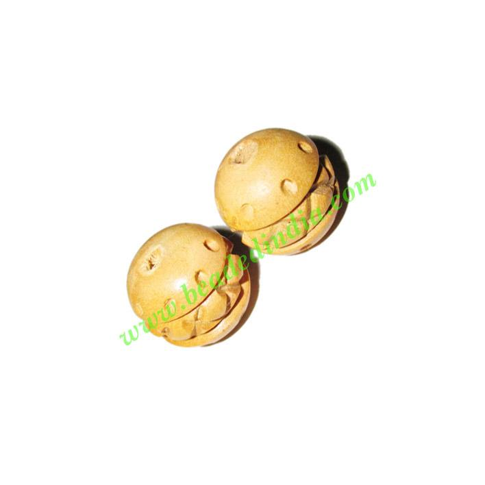 Natural Color Wooden Beads, size 16x17mm, weight approx 1.75 - Natural Color Wooden Beads, size 16x17mm, weight approx 1.75 grams