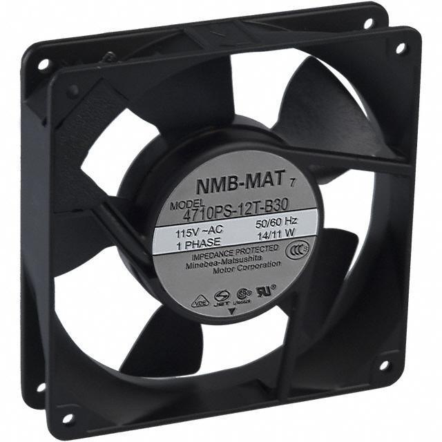 FAN AXIAL 119X25.5MM 115VAC TERM - NMB Technologies Corporation 4710PS-12T-B30-A00