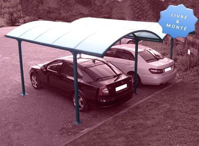 Carport double  - Avec toit demi-lune