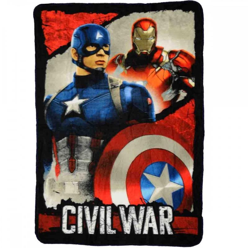 6x Plaids polaire Avengers 140x100 - Linge de maison